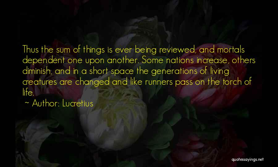 Short Changed Quotes By Lucretius