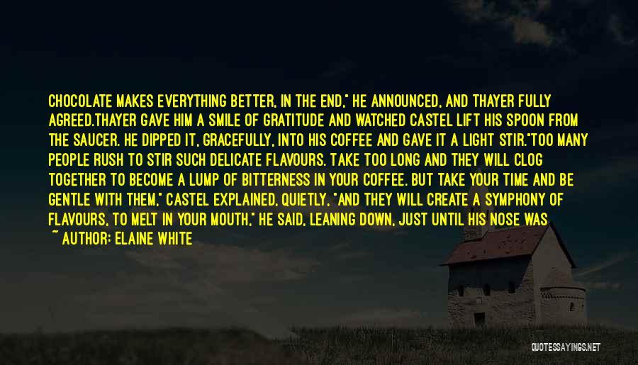 Short Gratitude Quotes By Elaine White