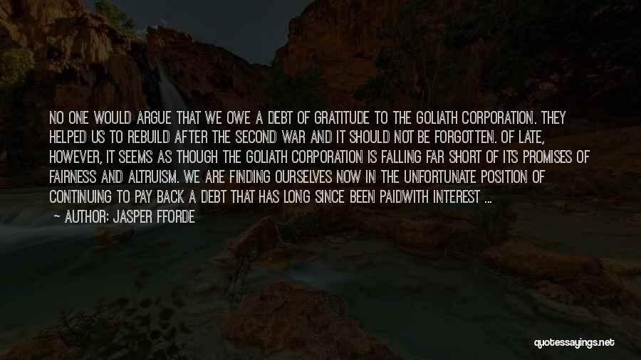 Short Gratitude Quotes By Jasper Fforde