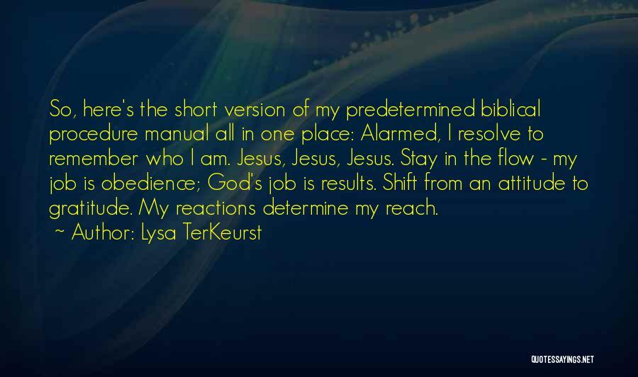 Short Gratitude Quotes By Lysa TerKeurst