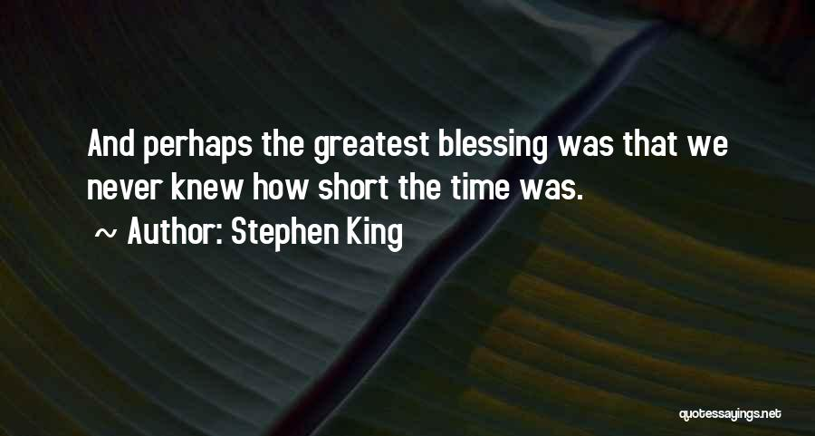 Short Gratitude Quotes By Stephen King