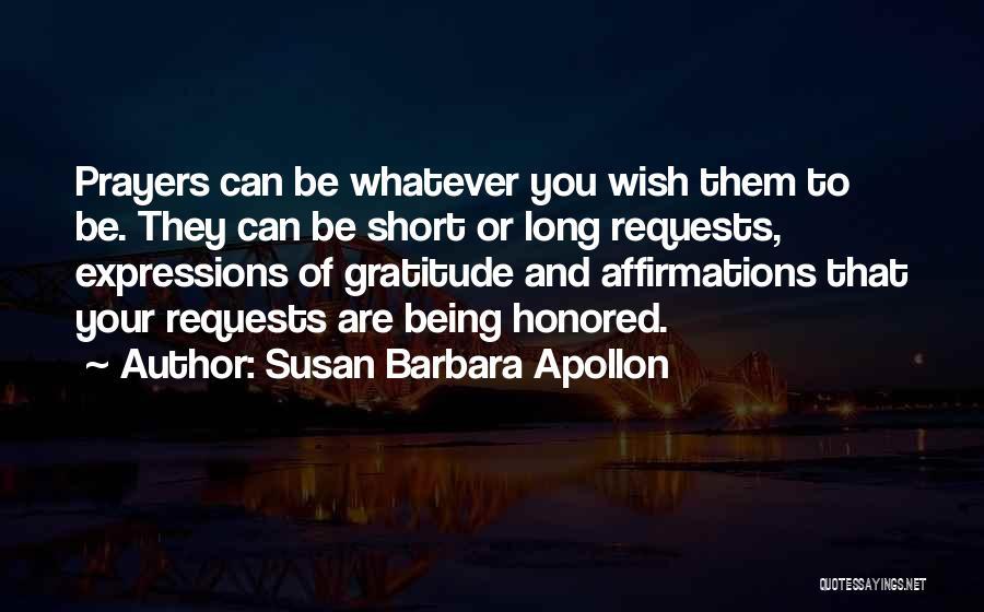 Short Gratitude Quotes By Susan Barbara Apollon