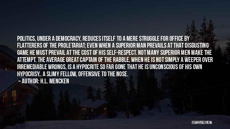 Short Inspirational Attitude Quotes By H.L. Mencken