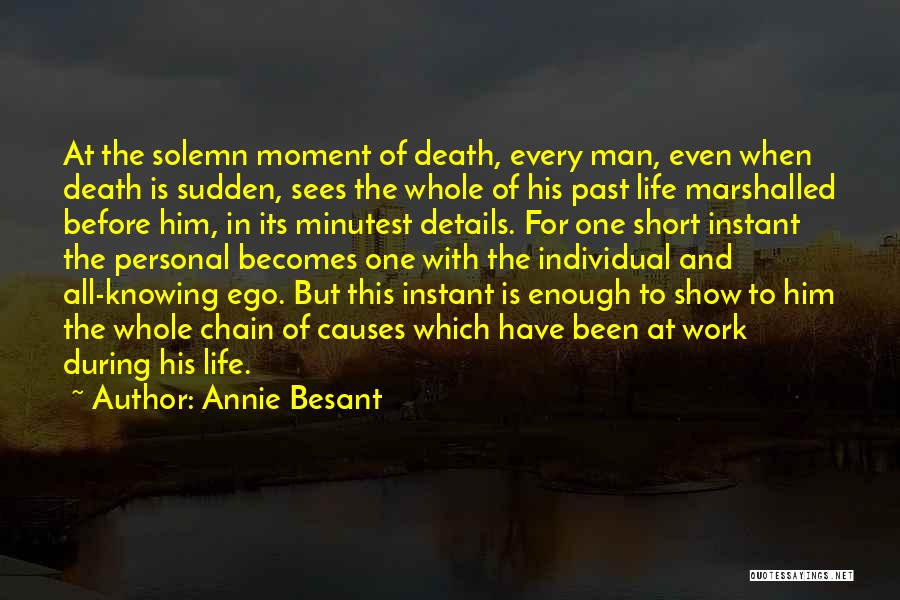 Short Life And Death Quotes By Annie Besant
