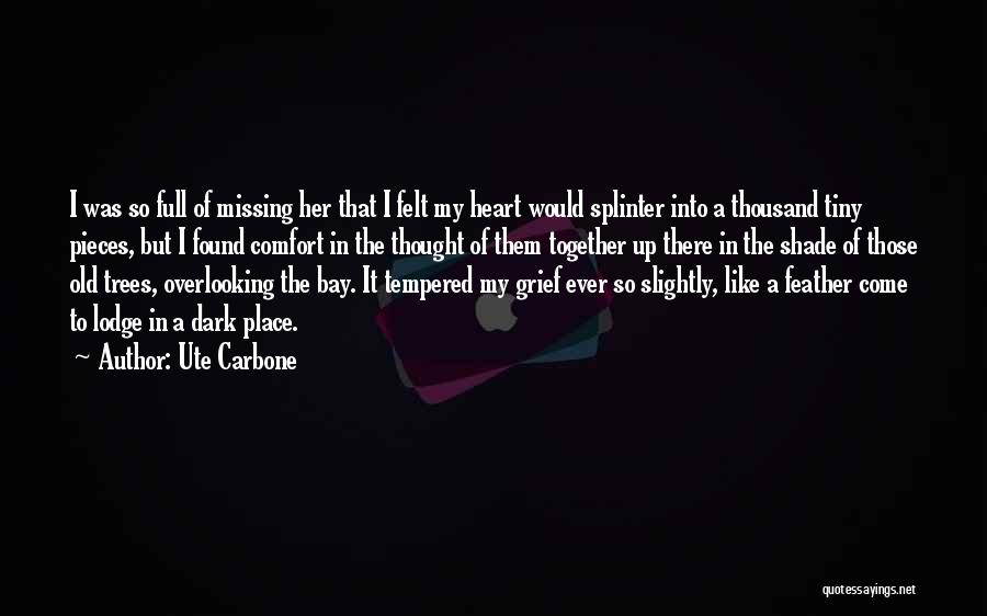 Short Missing Him Quotes By Ute Carbone