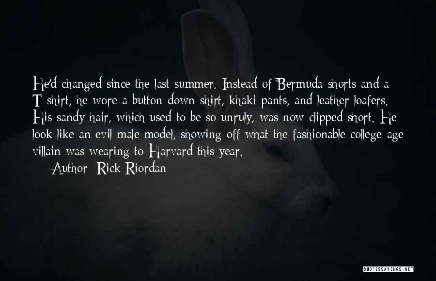Short Pants Quotes By Rick Riordan