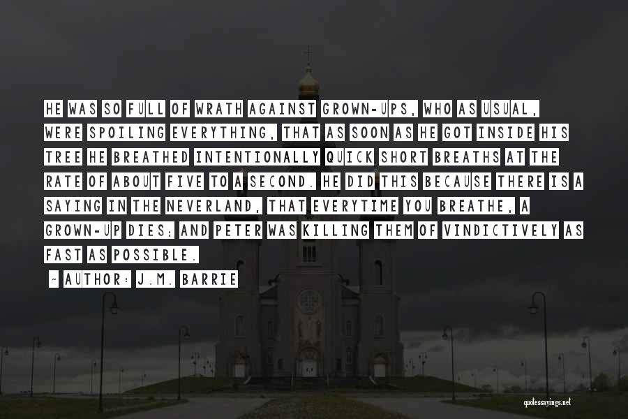 Short Quick Quotes By J.M. Barrie