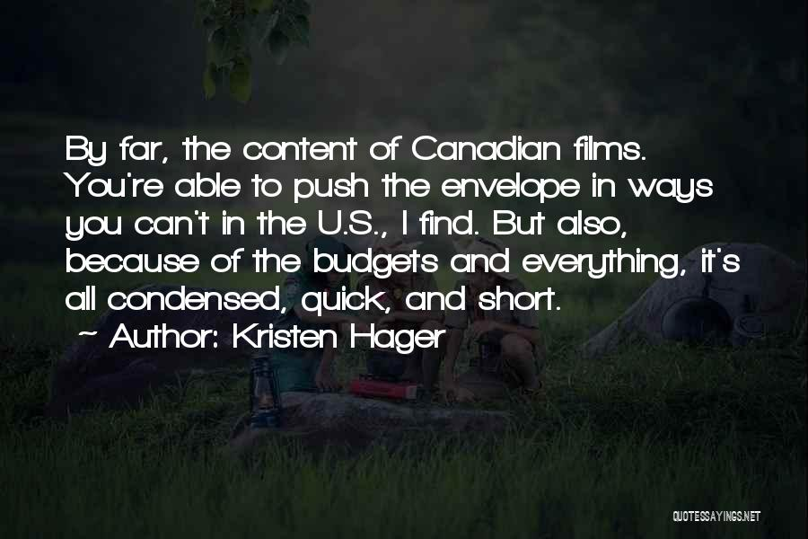 Short Quick Quotes By Kristen Hager