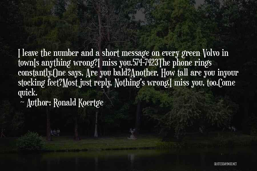 Short Quick Quotes By Ronald Koertge