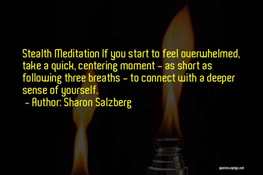 Short Quick Quotes By Sharon Salzberg