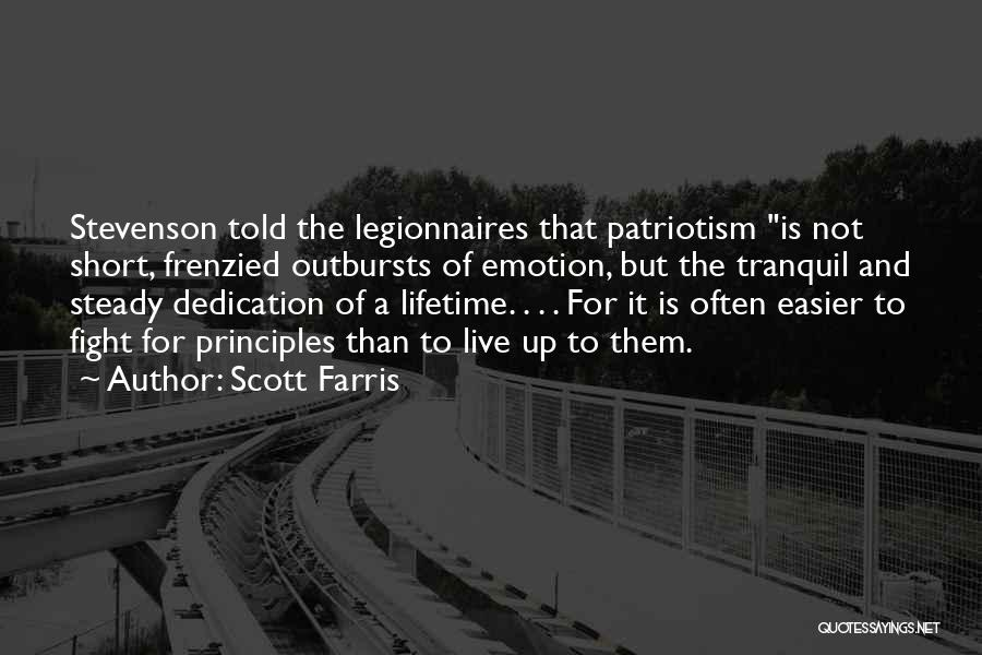 Short Tranquil Quotes By Scott Farris