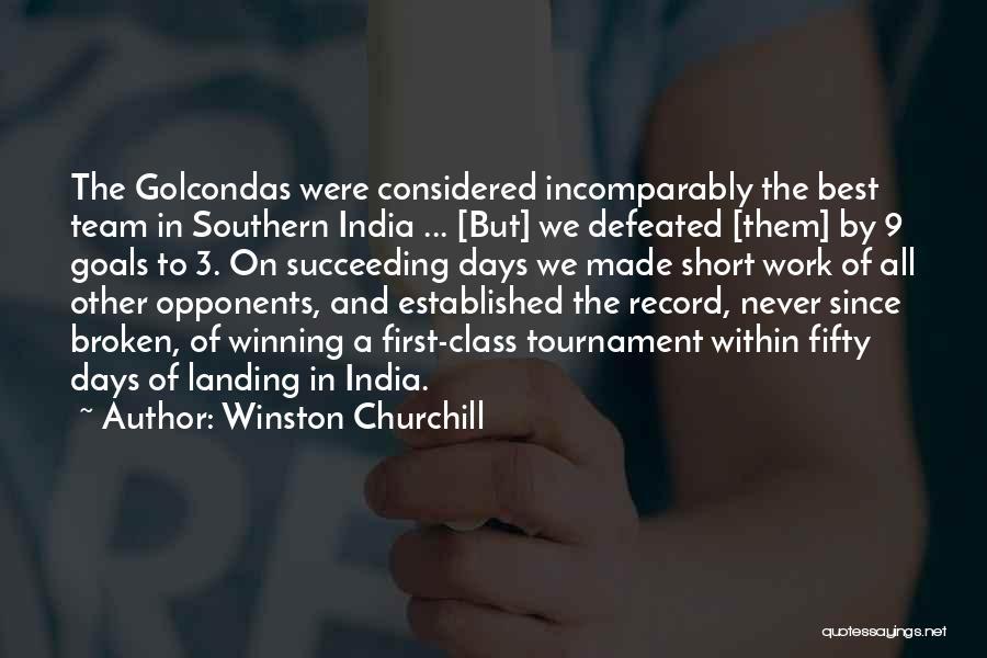 Short Winning Team Quotes By Winston Churchill
