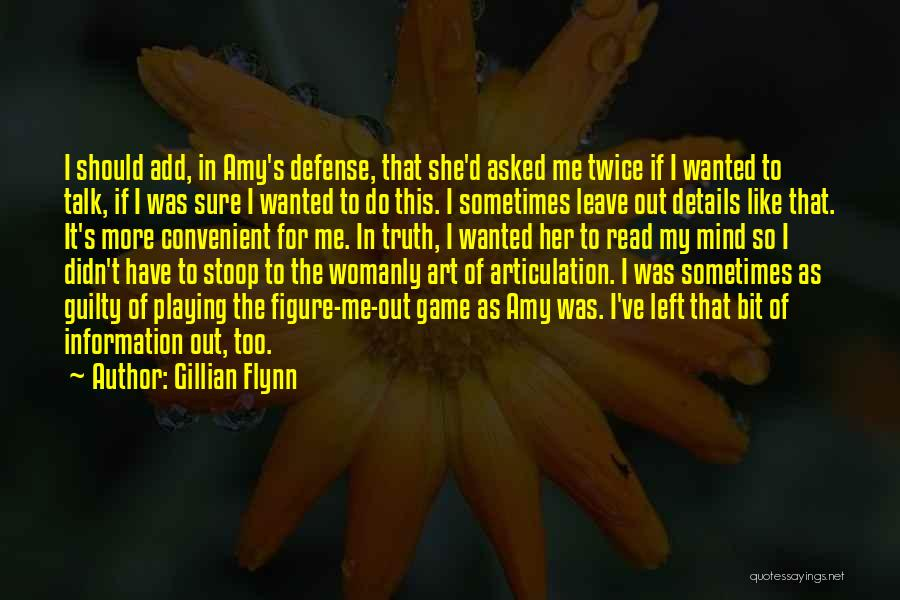 Should I Leave Quotes By Gillian Flynn
