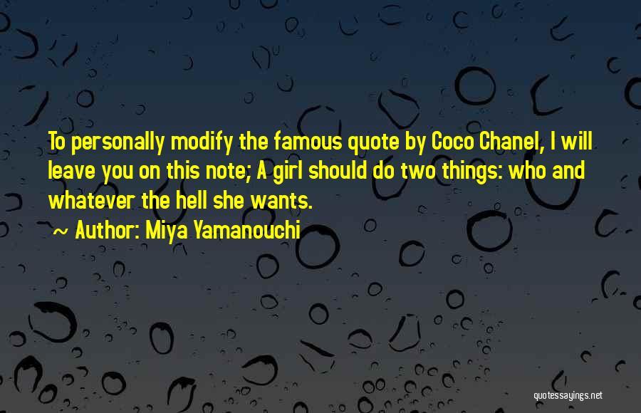 Should I Leave Quotes By Miya Yamanouchi