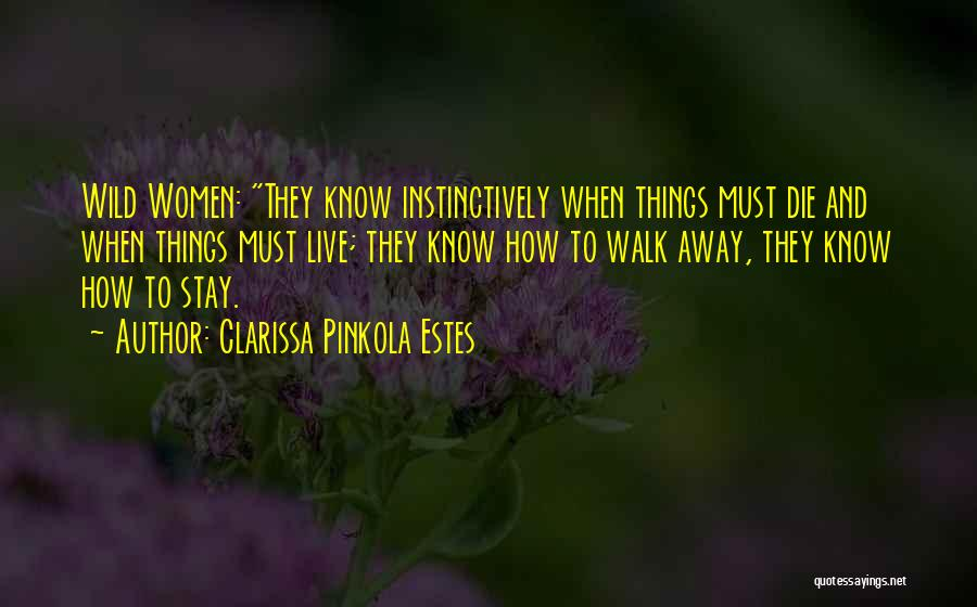 Should I Walk Away Or Stay Quotes By Clarissa Pinkola Estes