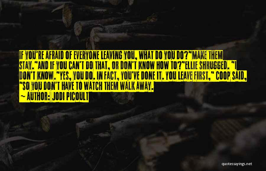Should I Walk Away Or Stay Quotes By Jodi Picoult
