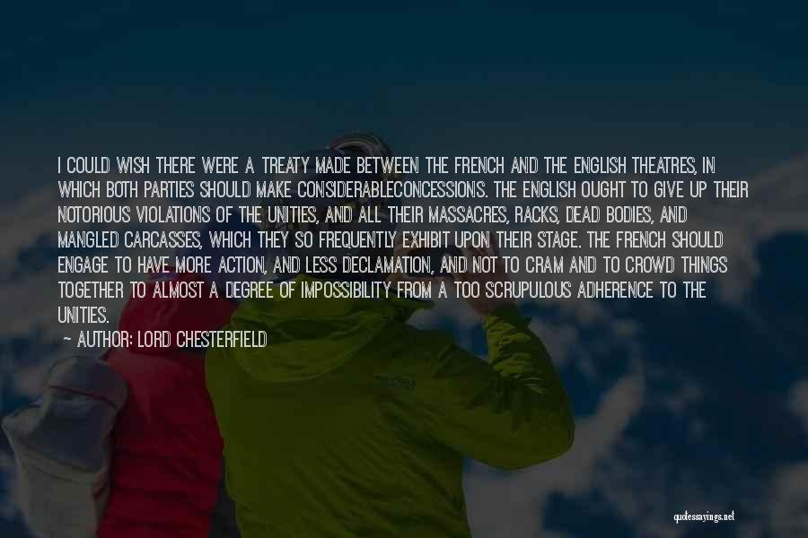 Should Not Give Up Quotes By Lord Chesterfield