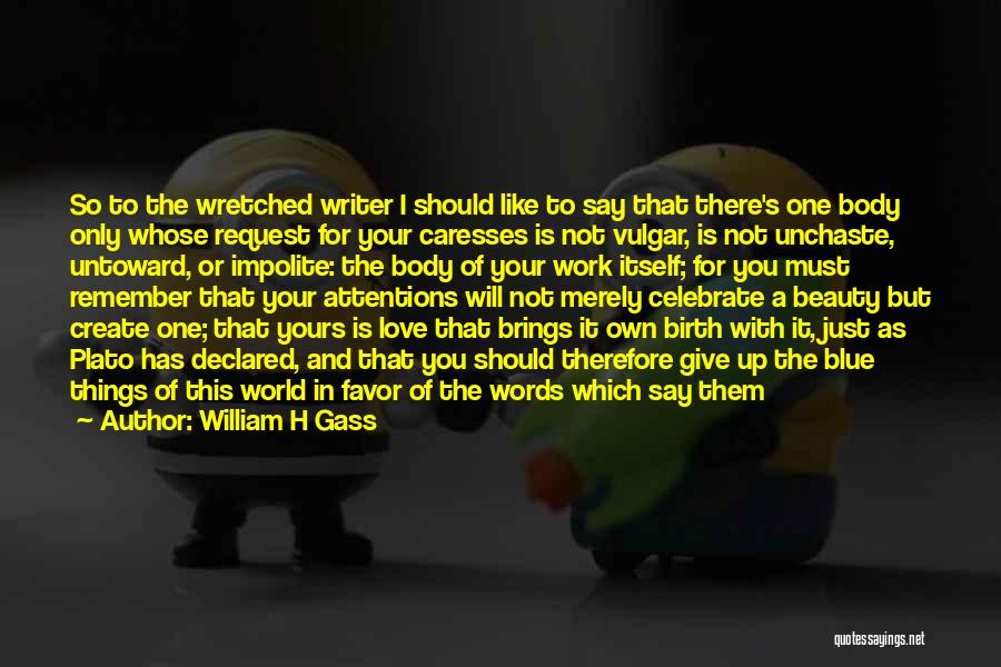 Should Not Give Up Quotes By William H Gass