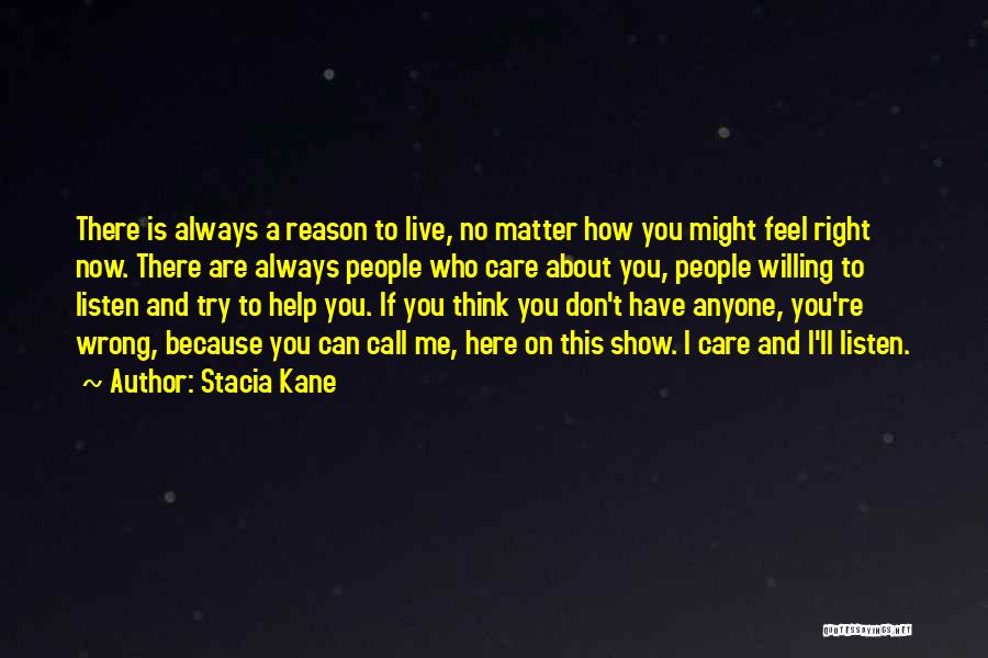 Show Me How You Feel Quotes By Stacia Kane
