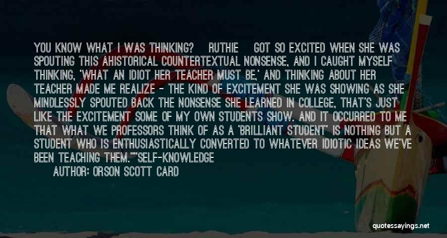 Show Me Some Quotes By Orson Scott Card