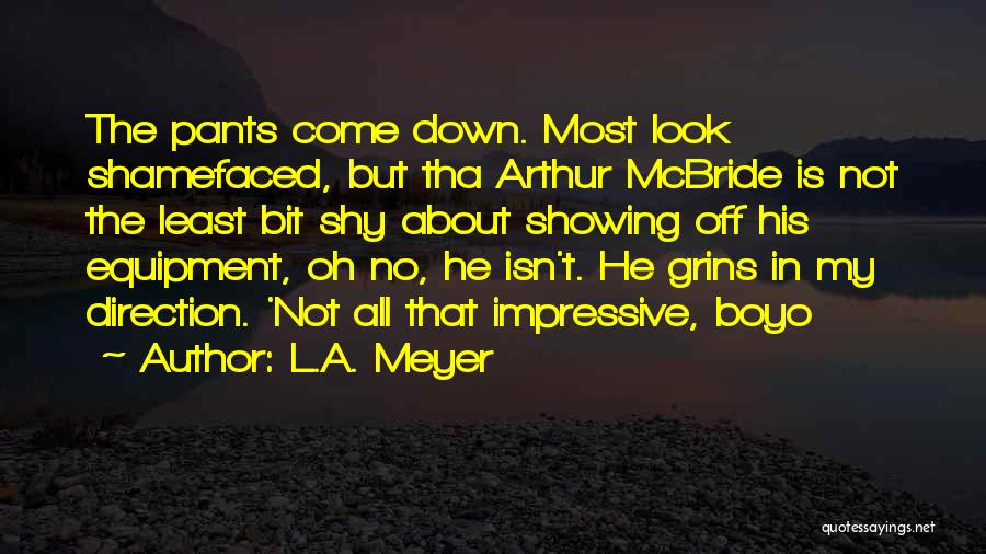 Showing Cow Quotes By L.A. Meyer