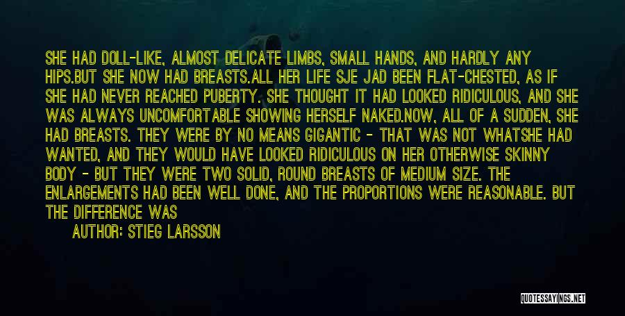 Showing Your Body Quotes By Stieg Larsson