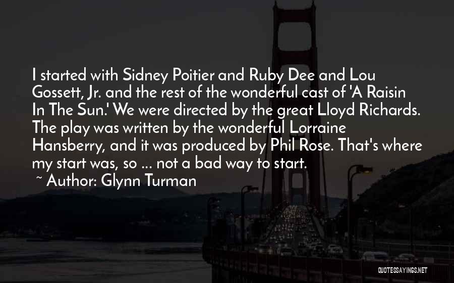 Sidney Quotes By Glynn Turman