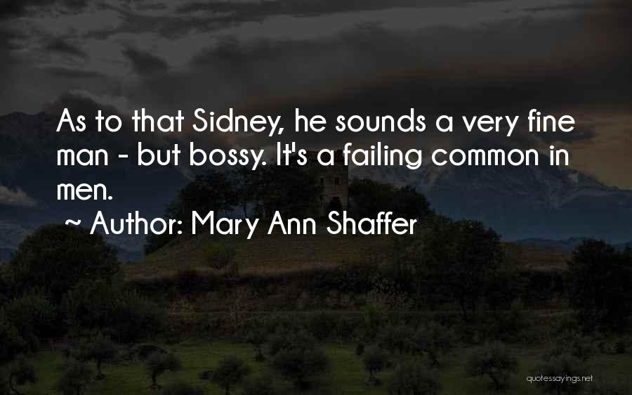 Sidney Quotes By Mary Ann Shaffer