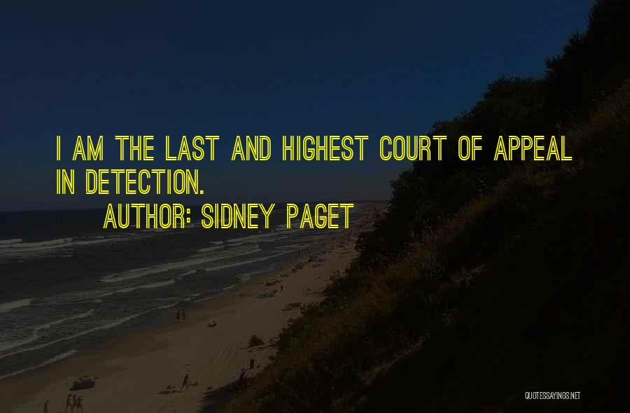 Sidney Quotes By Sidney Paget