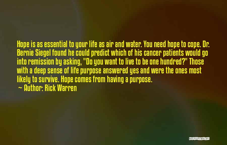 Siegel Quotes By Rick Warren