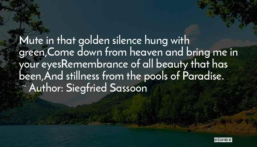 Siegfried Sassoon Quotes 252437