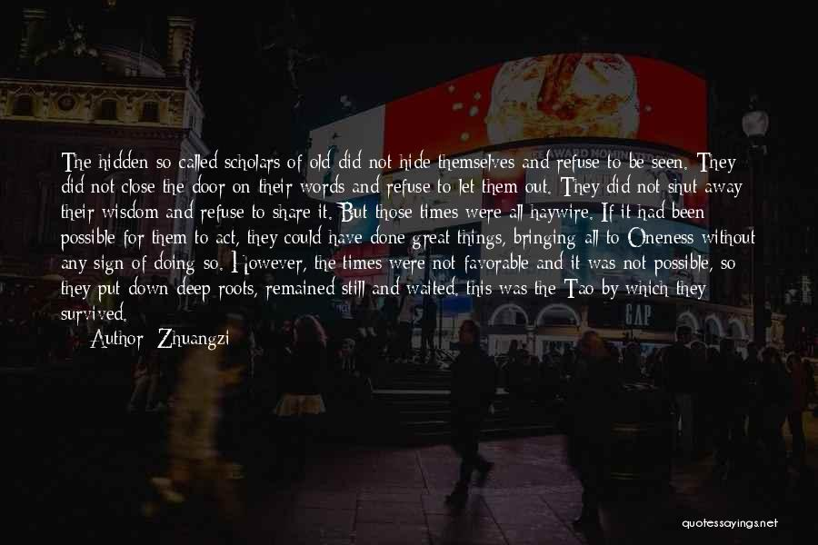 Sign Of The Times Quotes By Zhuangzi