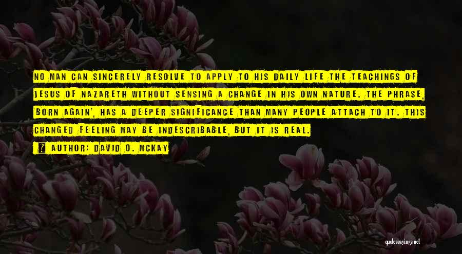 Significance Quotes By David O. McKay