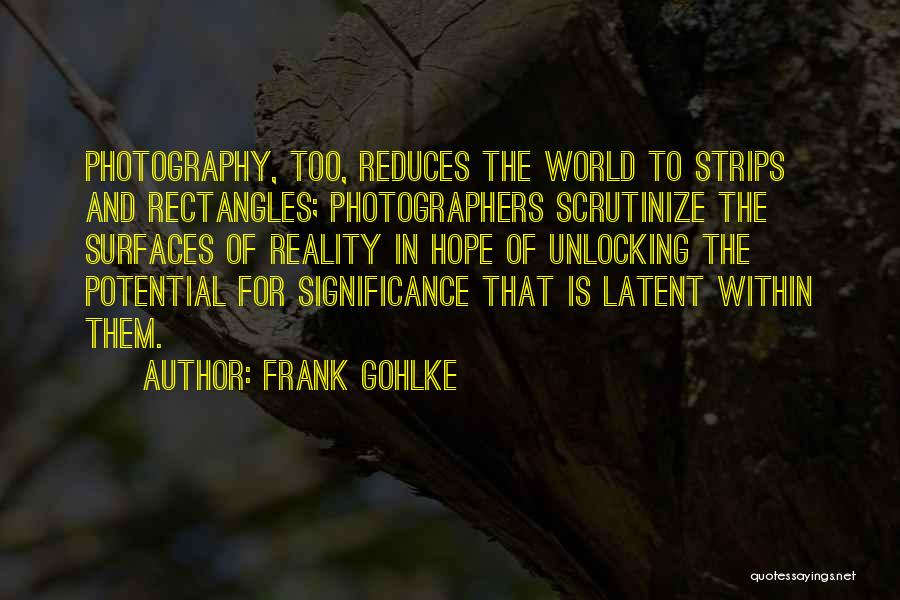 Significance Quotes By Frank Gohlke