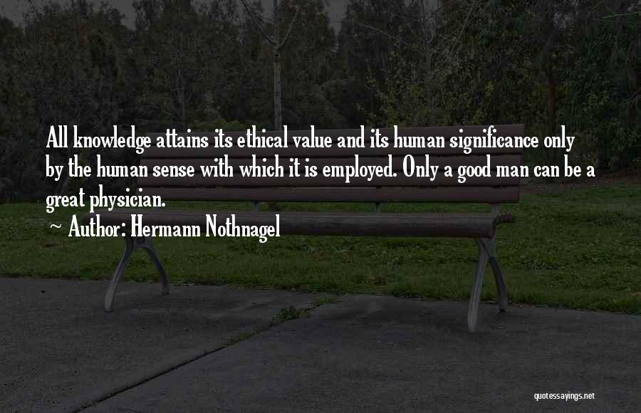 Significance Quotes By Hermann Nothnagel