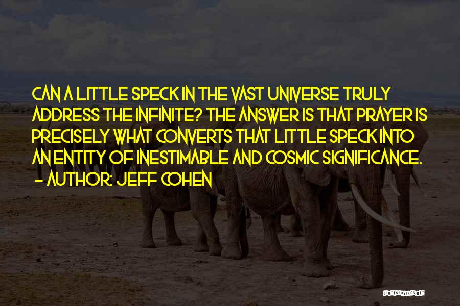 Significance Quotes By Jeff Cohen