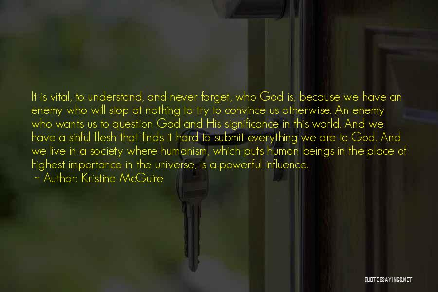 Significance Quotes By Kristine McGuire