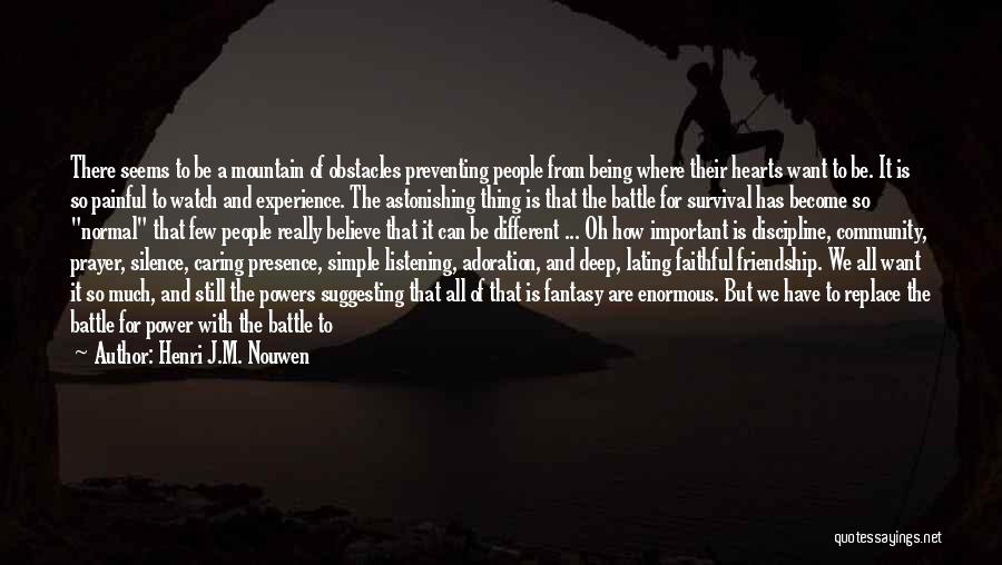 Silence Painful Quotes By Henri J.M. Nouwen