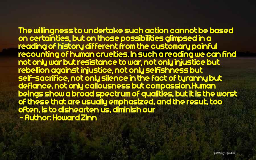 Silence Painful Quotes By Howard Zinn