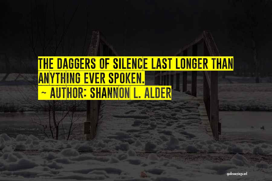 Silence Painful Quotes By Shannon L. Alder