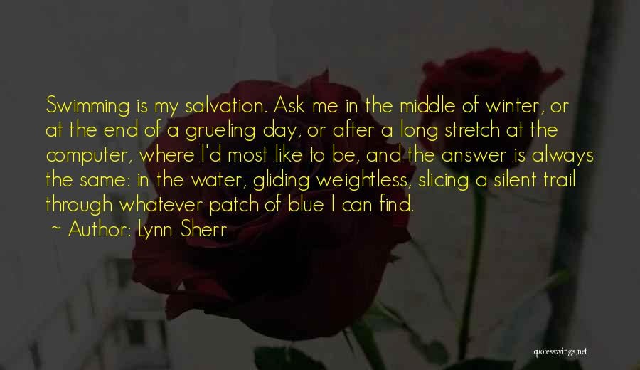 Silent Is The Best Answer Quotes By Lynn Sherr