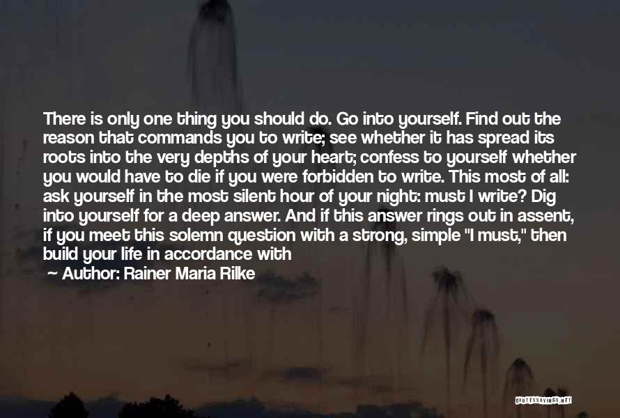 Silent Is The Best Answer Quotes By Rainer Maria Rilke