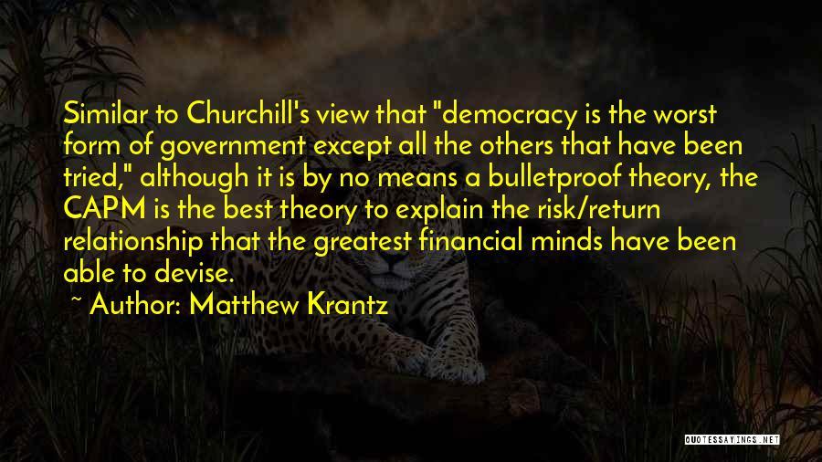 Similar Minds Quotes By Matthew Krantz