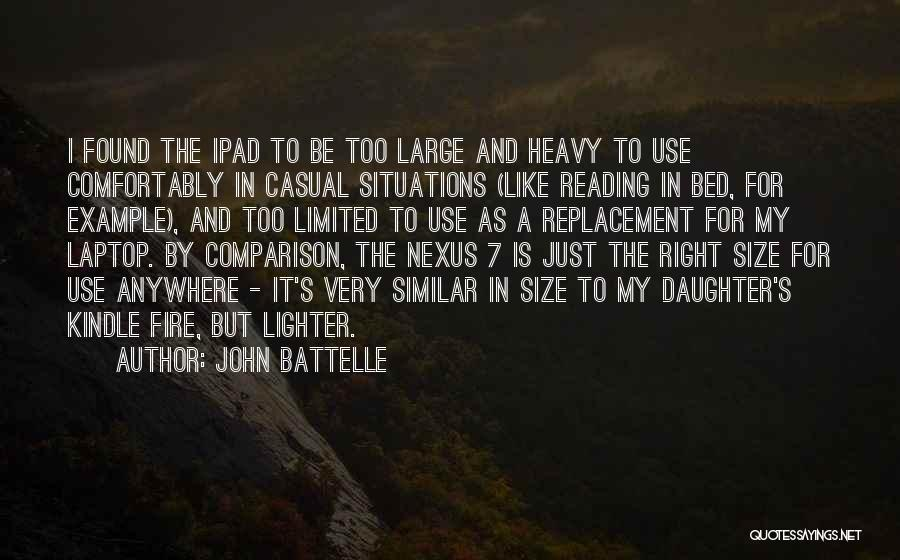 Similar Situations Quotes By John Battelle