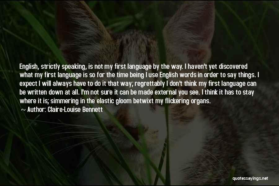 Simmering Quotes By Claire-Louise Bennett