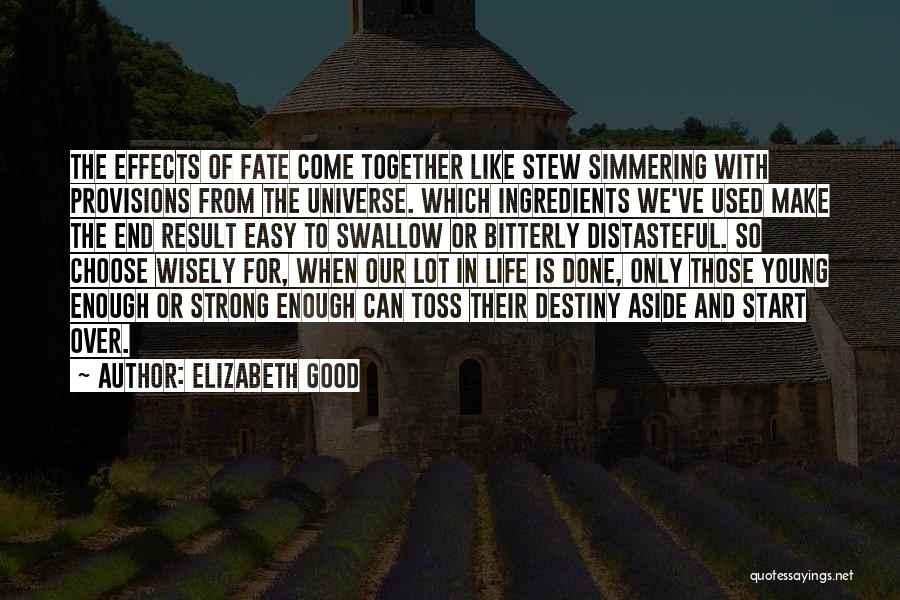 Simmering Quotes By Elizabeth Good