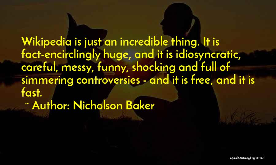 Simmering Quotes By Nicholson Baker