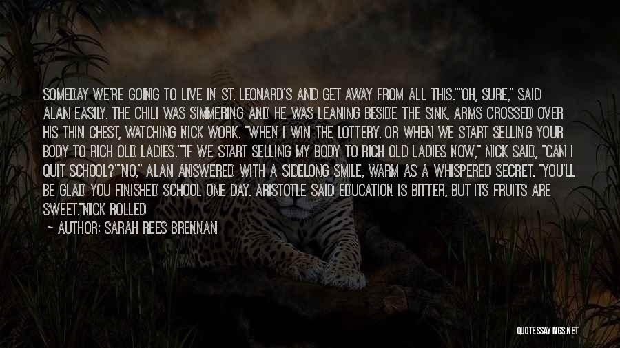 Simmering Quotes By Sarah Rees Brennan