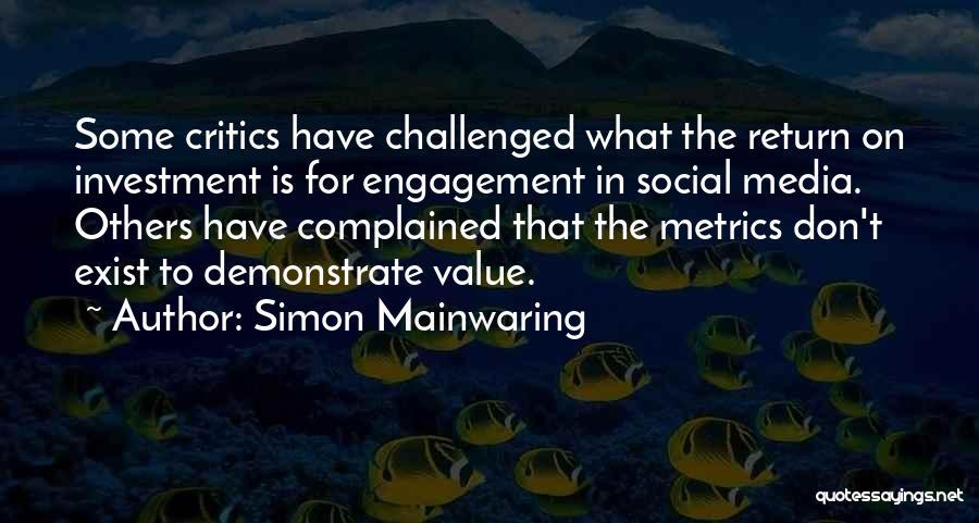 Simon Mainwaring Quotes 1113524