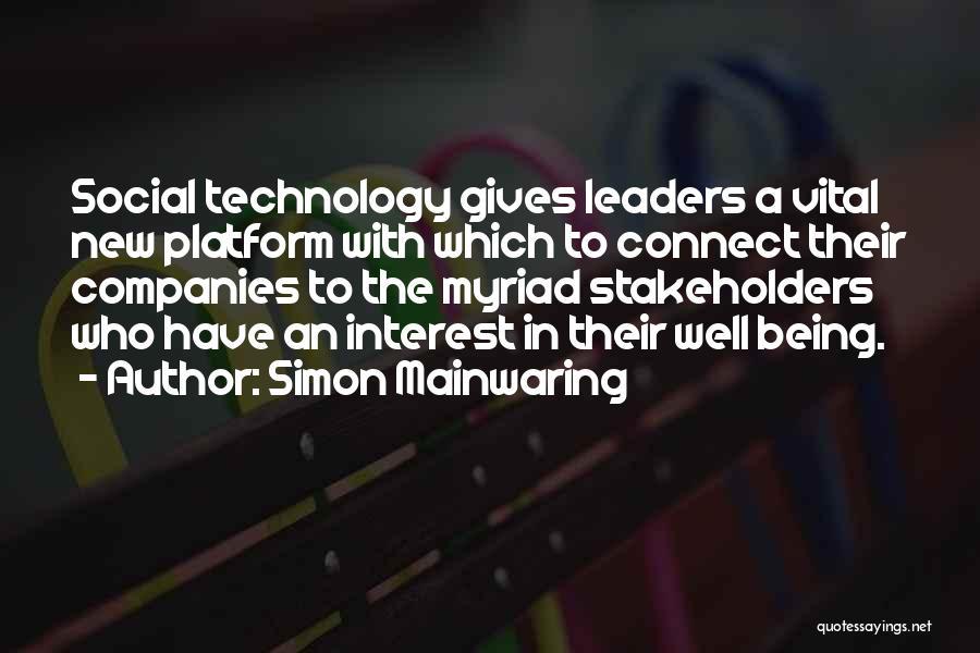 Simon Mainwaring Quotes 1809600